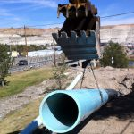 16 inch Cased waterline installed by Horizontal Directional Drilling, Green River WY