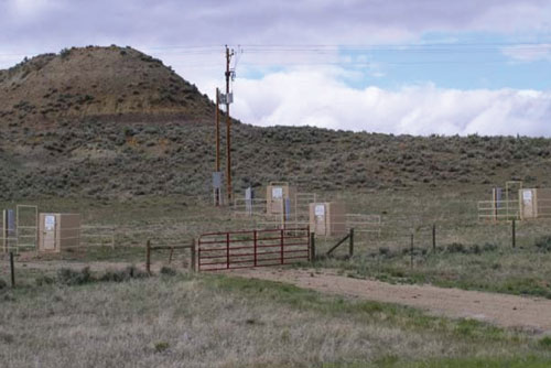 Methane Wells, Powder River Basin, Wyoming
