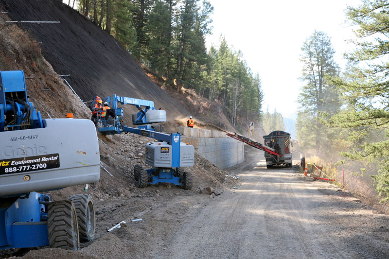 Roadway Retaining Wall and Soil Nail Slopes - Teton County Wyoming