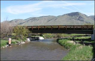Flat Creek Fishing Club Bridge - Teton County, Wyoming