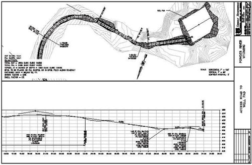 Typical Well Pad Access Plan and Profile - Powder River Basin, Wyoming