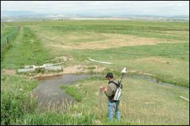 Dinwoody Canal Desing Survey Crowheart Area - Fremont County, Wyoming GPS Pathfinder Survey
