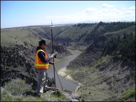 1,100 Acre Boundary (Cadastral) Survey - Madison County, Idaho GPS Leica 1200 RTK Surverying