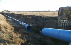 Eden Valley Irrigation District Ditch-to-Pipeline Conversion Project: Large diameter low-head irrigation pipleline.