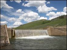 Dam on LaBarge Creek - Lincoln County, Wyoming