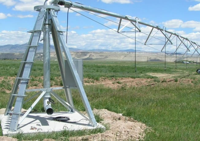 New center pivot irrigation system, Fremont County, Wyoming